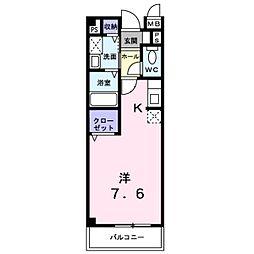 JR東海道・山陽本線 彦根駅 徒歩8分の賃貸アパート 2階1Kの間取り