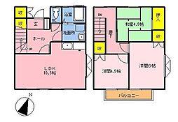 [テラスハウス] 神奈川県横浜市都筑区加賀原1丁目 の賃貸【/】の間取り