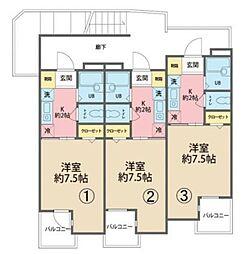 沖縄都市モノレール 牧志駅 徒歩4分の賃貸マンション 4階1Kの間取り