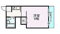 サンライズ中央[4階]の間取り