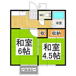 宮坂ハイツ[2階]の間取り