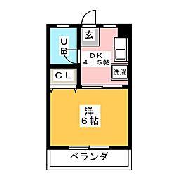 第5光ハイツ[2階]の間取り