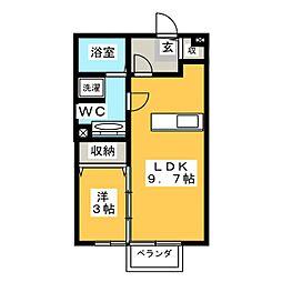 モナリエ御幸本町[2階]の間取り