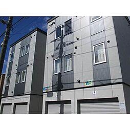 北海道札幌市北区北二十一条西7丁目の賃貸アパートの外観