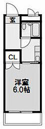 大建ハイツ第2三国マンション[512号室]の間取り