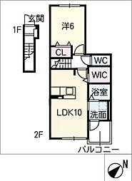 仮)新栄町3丁目アパート 2階1SLDKの間取り