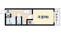 愛知県名古屋市天白区植田東3丁目の賃貸アパートの間取り