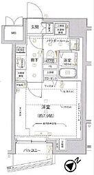 東京都中央区日本橋中洲の賃貸マンションの間取り
