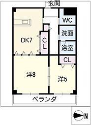 エスペラントM[3階]の間取り