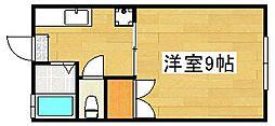 稲冨ハイツII[103号室]の間取り