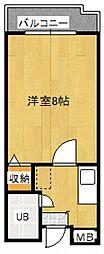 Rinon脇浜[6階]の間取り