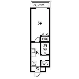 A-city港本宮(エーシティミナトホングウ)[5階]の間取り