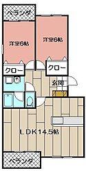 レイクサイドプリンス[3階]の間取り
