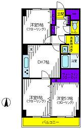 立川サニーハイツ[7階]の間取り