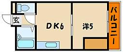 ハイツ長畑[5階]の間取り