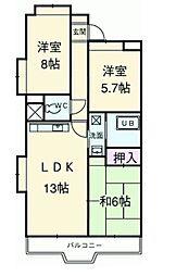 富士スカイハイツ[802号室]の間取り