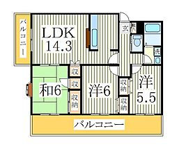 オーチャードハウス[5階]の間取り