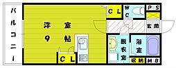 クレール桜[5階]の間取り
