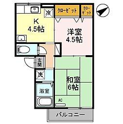 ピュアハイム2[1階]の間取り