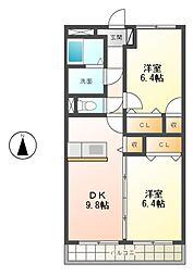 クレセール松岡[3階]の間取り
