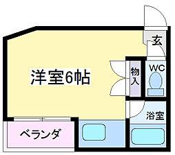 第六大朋マンション[3階]の間取り