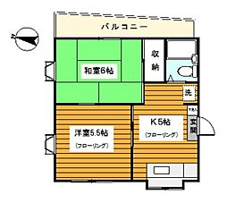 神奈川県横浜市鶴見区本町通4丁目の賃貸マンションの間取り