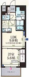 静岡県三島市一番町の賃貸マンションの間取り
