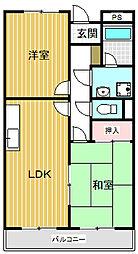 リンピアハピネス(丹波島)[107号室号室]の間取り
