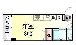 JR東北本線 仙台駅 徒歩7分の賃貸マンション 3階ワンルームの間取り