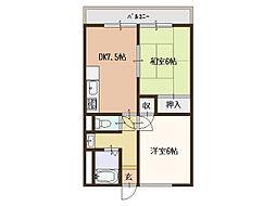 ニッコーハウス(NIKKO HOUSE)[1階]の間取り