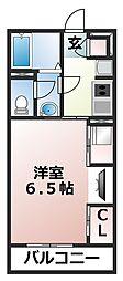 千葉県船橋市中野木2の賃貸アパートの間取り