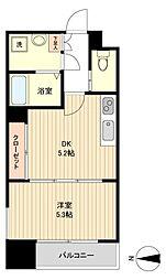 仙台市地下鉄東西線 大町西公園駅 徒歩3分の賃貸マンション 12階1DKの間取り