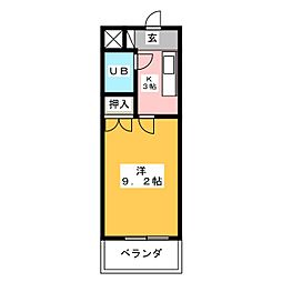 アーバンホームⅡ[4階]の間取り