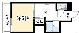 コーポ上野[301号室号室]の間取り