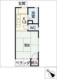 第9東海ビル[2階]の間取り