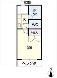 ベルハイム丸之内[2階]の間取り