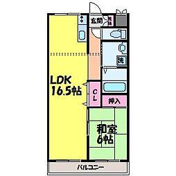 愛媛県松山市永代町の賃貸マンションの間取り