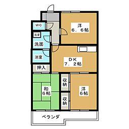 ボナセーラ竹田[2階]の間取り