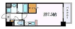 名鉄名古屋本線 山王駅 徒歩9分の賃貸マンション 2階ワンルームの間取り