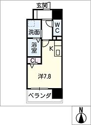 Atrio鶴舞[9階]の間取り
