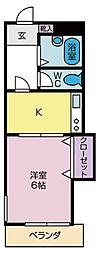 グリーンハイツ阪本[207号室]の間取り