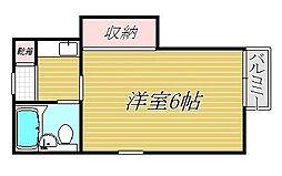 ハイム千秋[2階]の間取り