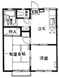 千葉県鎌ケ谷市初富本町1丁目の賃貸アパートの間取り