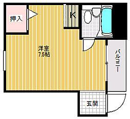 ハイコート堀江[306号室]の間取り