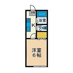 サンライズカシワギ[1階]の間取り
