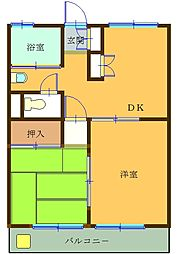 第2オパールマンション[12号室]の間取り