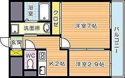 アベニュー黒崎[7階]の間取り