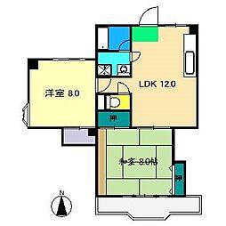比島セブンコーポ[2階]の間取り