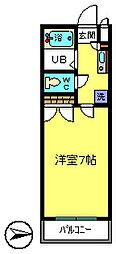東京都江戸川区東葛西8丁目の賃貸マンションの間取り