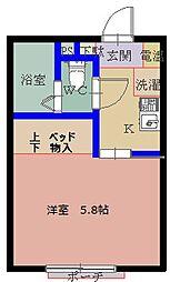山豊ハイツ[2階]の間取り